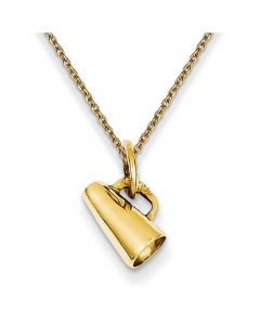 Megaphone Pendant Necklace in 14K Yellow Gold