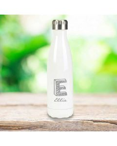 Personalized Insulated Water Bottle- White